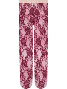 NEW GUCCI TIGHTS Maroon Lace M Deep Pink, Red