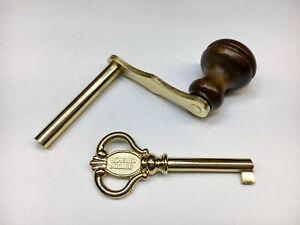 Howard Miller Grandfather Clock Door Key and Crank