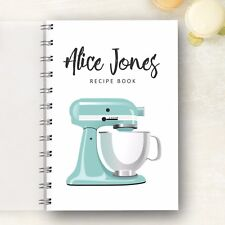 Personalised Recipe Book Retro Mixer. Perfect Present for any food lover. Gift