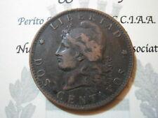 America - Argentina 2 Dos Centavos 1891 (bronze) vf km 33