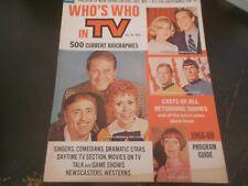New ListingStar Trek, Laugh-In, Flying Nun - Who's Who In Tv Magazine 1968 - 1969