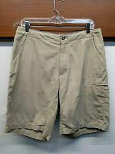 EUC Men's Patagonia Cotton Blend Hiking Camping Shorts Drawstring Size 32 Tan