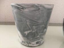 Sass & Belle Mini Marbled Marble Planter Porcelain Plant Pot Decoration Gift
