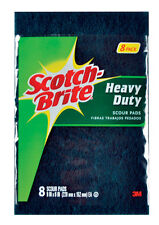 NEW! 3M SCOTCH-BRITE All Purpose Scouring Pads 8-Pack 220-8-CC