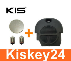 Key Housing For Nissan Almera Primera Micra x-Trail + 2x Push Button + Battery