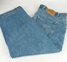 "Levi Strauss 505 Women's Jeans 44"" x 32"" Blue Denim Regular Fit Orange Tab"