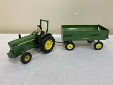 Vintage John Deere 1/16 Scale Die Cast Toy Tractor And Trailer