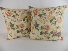 Vintage Victorian Shabby Chic Floral Fabric Cushion Covers Scatter Pillows Large