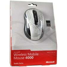 Microsoft Wireless Mobile 4000 BlueTrack Scroll Mouse, White/Grey ( D5D-00068 )