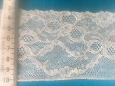 Beautiful Vintage Cotton Lace made in England 1m x 80 mm wide, Heirloom Sewing