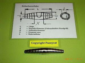 Feder Ersatzfeder 60 mm vernickelt für Gartenschere Baumschere Geflügelschere