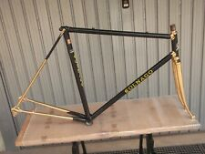 TELAIO CORSA BICI VINTAGE FRAME LUXURY PLATED GOLD BLACK COLNAGO MEXICO POPE 79