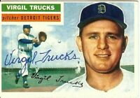 Virgil Trucks Signed Autographed Baseball Card 1956 Topps Tigers #117 COA