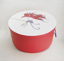 """Coral Moiré 'Bouquet de Chapeaux' 16""""-17""""-18"""" ; x 9""""~ Milly Hatboxes Stack of 3"""