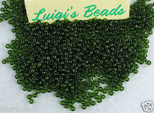 11/0 Round Toho Japanese Glass Seed Beads #940- Transparent Olivine 15g