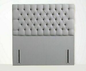 "54"" inch Floor Standing Alma Design Headboard in Plush Velvet, Matching Buttons"