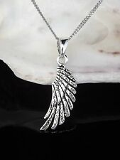 Sterling Silver 925 Angel Wing Pendant 16/18/20'' Chain Necklace Gift Boxed