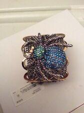 Betsey Johnson Spider Lux Mesh Chain Bracelet $125 Brand BSS15