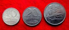 LATVIA , LETTLAND , LETTONIA  10,20,50 SANTIMU 1922 COIN SET