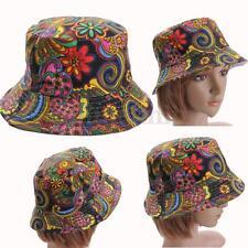 Women Flower Bucket Hat Boonie Hunting Fishing Outdoor Cap Summer Sun Hats UK