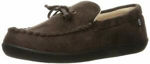 Isotoner Mens Isotoner Closed Toe Slip On Slippers, Dark Chocolate, Size 9.5 8tl