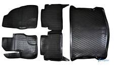 Exklusiv 3D TPE 5-tlg SET Gummimatten + Kofferraumwanne für Ford Kuga 2008-2012