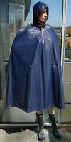 Regenmantel Regenjacke Gummimantel Gummi Regen Pvc Regenumhang Regencape Blau
