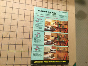 Vintage Unused — 1963 RADIO SHACK --