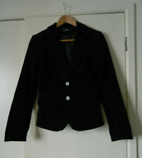 H&M fine corduroy black jacket, blazer, size 8UK, EUR36, small, S