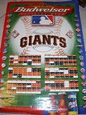 1998 San Francisco Giants 18x27 Budweiser Schedule Poster