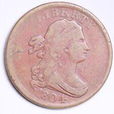 1804 Draped Bust Half Cent CHOICE F+/VF FREE SHIPPING E101 ALM