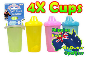 Baby Spill Proof Tumber Baby Cups 4 Cup Pack [BPA- FREE]  Sealed New Stock