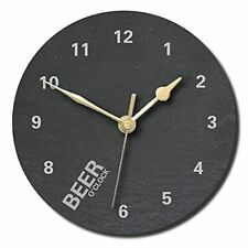 Beer O'Clock Slate Clock - Personalised with text of your choice(Large (300mm)