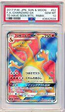 Pokemon PSA 10 GEM MINT Charizard GX 052/051 SR Japanese