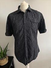 CALVIN KLEIN Jeans Mens Shirt Size XL BLACK GREY | Short Sleeve Holiday Casual