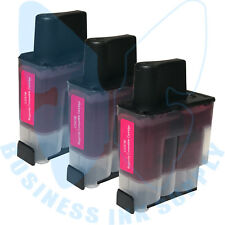 3 MAGENTA LC41 HIGH YIELD LC41M Ink Cartridge Compatible for BROTHER Printer