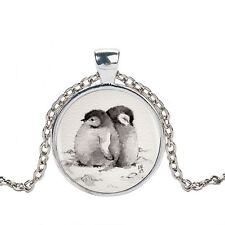PENGUIN PENDANT NECKLACE / Silver Chain Jewellery Gift Idea Girls Womens Kids