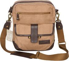 Rakuda Cross-Body Canvas Leather Travel Satchel Backpack
