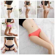 Underwear Ice Silk Briefs G-string Thongs Seamless  Knickers Lace Panties