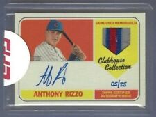 2018 Topps Heritage Anthony Rizzo Auto Patch #d /25 Sealed Chicago Cubs