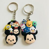 2pcs TSUM TSUM mickey minnie PVC key chain oranment key chains figure cute