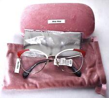 a76a10d0dca5 MIU MIU VMU 50P USP-1O1 Red Pale Pink Eyeglass Glasses 54-18