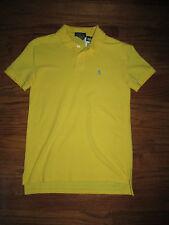 New Ralph Lauren Boys Size XL 18-20 Yellow Mesh Polo Short Sleeve Golf Shirt
