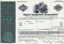 DEC Digital Equipment Corporation 1977, 4 1/2% Debenture due 2002 (10.000$)