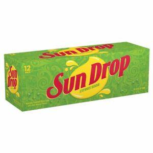 12 pack of SUN DROP Cans citrus cola pop drink SUNDROP Soda