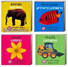 Bright Baby Bilingual (bb) Set First Words,Colors,Animals,Trucks English/Spanish