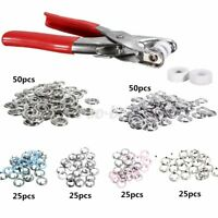 200pcs Prong Pliers Ring Press Studs Snap Popper Fasteners 9.5mm DIY   C  K