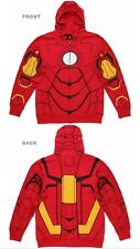 MARVEL MY IRON MAN SUIT ZIP UP COSTUME HOODIE- SIZE ADULT  LARGE - NWT