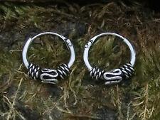 Celtic Hoop Earrings Adornment 1 925 Sterling Silver Ø 10mm Bali Hoop Earrings