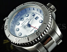 Invicta 52mm Reserve SKULL Hydromax Deep Dish SWISS GMT Silver SS 1000m Watch